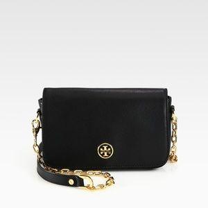 Tory Burch Robinson chain mini black bag